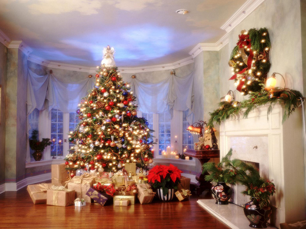 украшение дома к новому году 2014