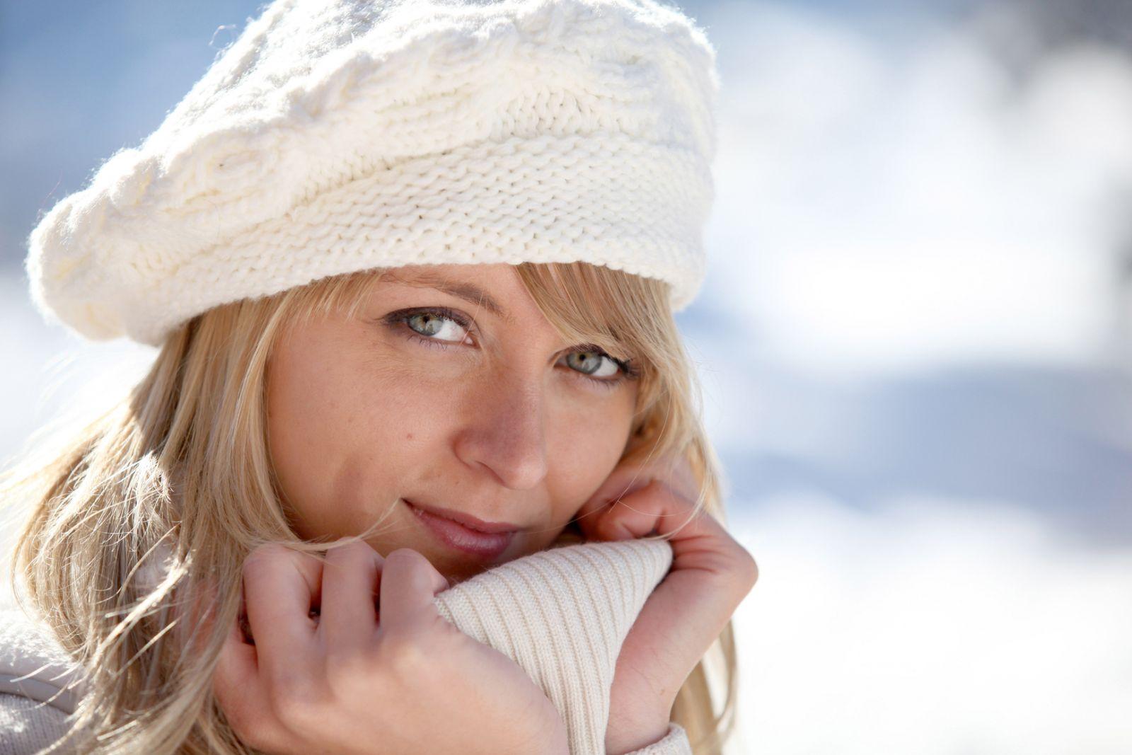 шапка зимой